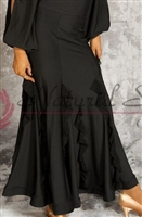 Style NS Basic Black Ruffled Ballroom Skirt