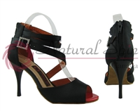 Style NS Miami Club Black Satin Bootie Shoe