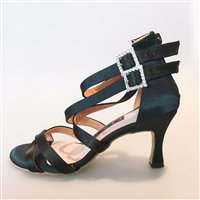 Style NS Miami Black Satin Bootie Shoe