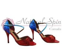 Style NS Rio Red & Blue Glitter