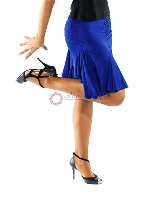 Style NS S18 Blue Latin Skirt | Blue Moon Ballroom Dance Supply