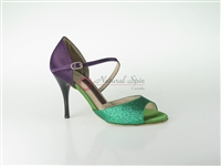 Style NS San Jose Green Glitter & Purple Satin