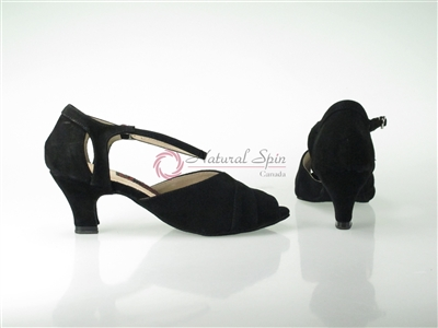 Style NS Siena Black Suede Cuban Heel - Quality Dancewear | Blue Moon Ballroom Dance Supply