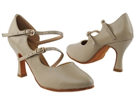 Style PP201 Beige Faux Leather Vegan - Ladies Dance Shoes | Blue Moon Ballroom Dance Supply