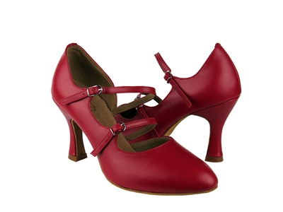 Style PP201 Red Faux Leather Vegan - Ladies Dance Shoes | Blue Moon Ballroom Dance Supply