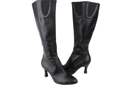 Style PP205 Black Leather Boot - Dance Footwear | Blue Moon Ballroom Dance Supply