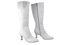 Style PP205 White Leather Boot