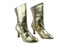 Style PP205A Gold Leather Ankle Boot