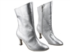 Style PP205A Silver Leather Ankle Boot - Dance Footwear | Blue Moon Ballroom Dance Supply