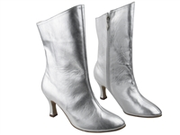 Style PP205A Silver Leather Ankle Boot