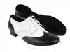 Style PP301 Black Leather & White Leather - Women's Dance Shoes | Blue Moon Ballroom Dance Supply
