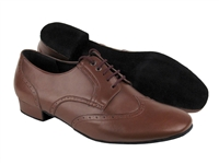Style PP301 Dark Tan Leather - Women's Dance Shoes | Blue Moon Ballroom Dance Supply