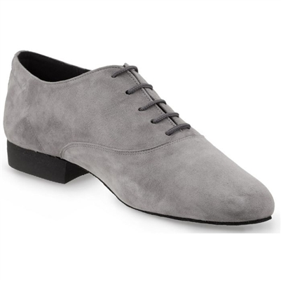 Rummos Elite Flexman 240 Grey Nubuck Mens Shoe - Women's Dancewear | Blue Moon Ballroom Dance Supply