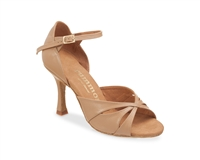 Rummos R385 Beige Leather Latin Shoe