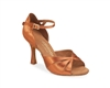 Rummos R385 Dark Tan Satin Latin Shoe