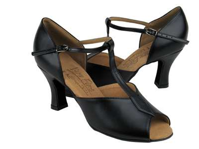 Style S2802 Black Leather - Ladies Dance Shoes | Blue Moon Ballroom Dance Supply
