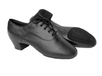 Style S417 Black Leather Latin Heel - Men's Dance Shoes | Blue Moon Ballroom Dance Supply