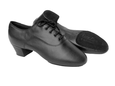 Style S417 Black Leather Latin Heel - Women's Dance Shoes | Blue Moon Ballroom Dance Supply
