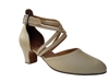 Style S9110 Beige Leather - Ladies Dance Shoes | Blue Moon Ballroom Dance Supply