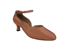 Style S9129 Tan Satin - Women's Dance Shoes | Blue Moon Ballroom Dance Supply