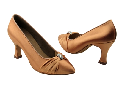 Style S9169 Tan Satin - Dancewear on Sale | Blue Moon Ballroom Dance Supply