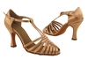 Style S9177 Tan Satin - Ladies Dance Shoes | Blue Moon Ballroom Dance Supply