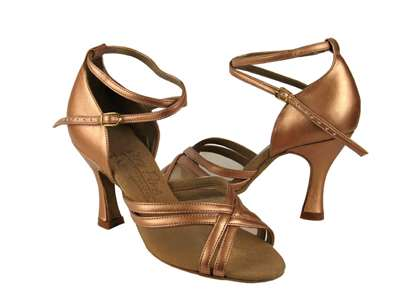 Style S9204 Copper Nude Leather - Ladies Dance Shoes | Blue Moon Ballroom Dance Supply