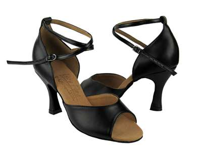 Style S9220 Black Leather - Ladies Dance Shoes | Blue Moon Ballroom Dance Supply