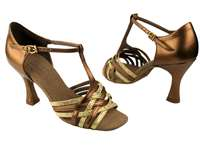 Style S92304 Gold Scale & Dark Tan Gold - Ladies Dance Shoes | Blue Moon Ballroom Dance Supply