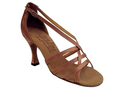 Style S9279 Tan Satin - Ladies Dance Shoes | Blue Moon Ballroom Dance Supply