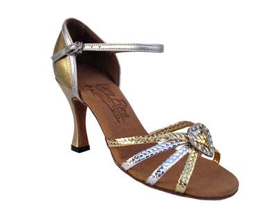 Style S9282 Gold & Silver Braid - Ladies Dance Shoes | Blue Moon Ballroom Dance Supply