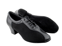 Style S9T56 Black Leather Oxford Cuban Heel