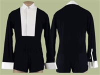 Style James Black & White Ballroom Shirt with Trunks
