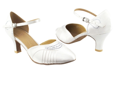 Style SERA1397 White Satin - Ladies Dance Shoes | Blue Moon Ballroom Dance Supply