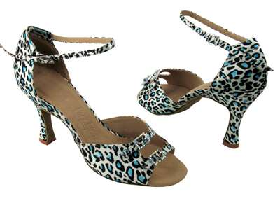 Style SERA1620 Blue Leopard - Ladies Dance Shoes | Blue Moon Ballroom Dance Supply