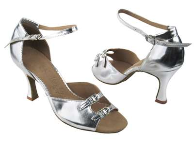 Style SERA1620 Silver Leather - Ladies Dance Shoes | Blue Moon Ballroom Dance Supply
