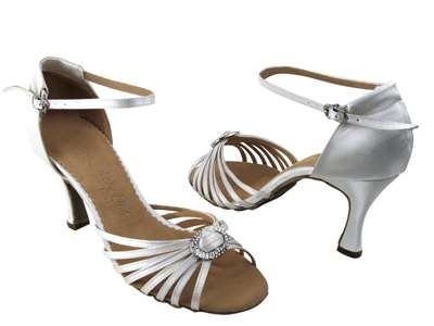 Style SERA1671b Ivory Satin - Ladies Dance Shoes | Blue Moon Ballroom Dance Supply