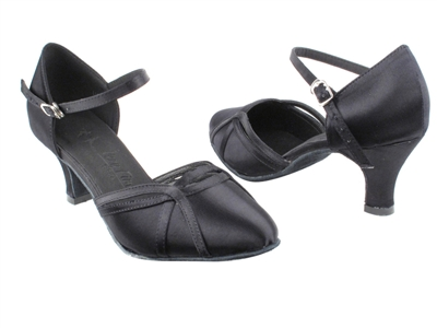Style SERA3540 Black Satin - Ladies Dance Shoes | Blue Moon Ballroom Dance Supply
