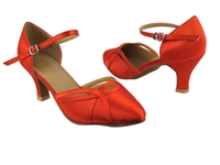 Style SERA3540 Red Satin - Ladies Dance Shoes | Blue Moon Ballroom Dance Supply