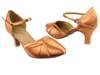 Style SERA3540 Tan Satin - Ladies Dance Shoes | Blue Moon Ballroom Dance Supply