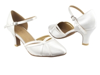 Style SERA3540 White Satin - Ladies Dance Shoes | Blue Moon Ballroom Dance Supply