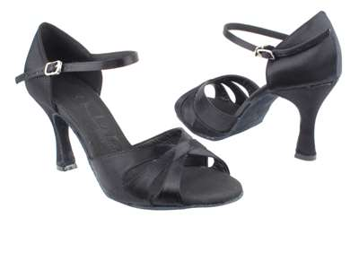 Style SERA3840 Black Satin - Ladies Dance Shoes | Blue Moon Ballroom Dance Supply