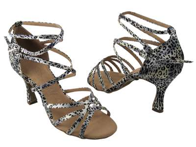 Style SERA5008 Snow Leopard - Ladies Dance Shoes | Blue Moon Ballroom Dance Supply