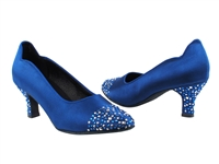 Style SERA5501 Blue Satin - Ladies Dance Shoes | Blue Moon Ballroom Dance Supply