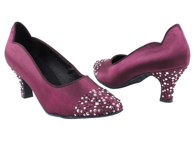 Style SERA5501 Purple Satin - Ladies Dance Shoes | Blue Moon Ballroom Dance Supply