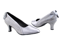 Style SERA5512 Grey Satin - Ladies Dance Shoes | Blue Moon Ballroom Dance Supply