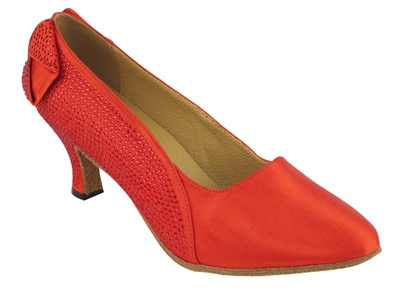 Style SERA5512 Red Satin - Ladies Dance Shoes | Blue Moon Ballroom Dance Supply