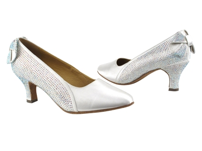 Style SERA5512 White Satin - Ladies Dance Shoes | Blue Moon Ballroom Dance Supply