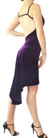 Style Godet V- Back Stretch Velvet Tango Dress - Women's Dancewear | Blue Moon Ballroom Dance Supply