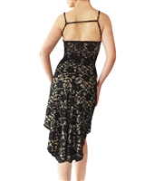 Style Godet High Back Stretch Lace Tango Dress - Women's Dancewear | Blue Moon Ballroom Dance Supply